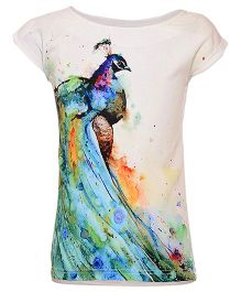 Miyo Polyester & Viscose Printed Top - Multi Color