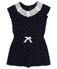 Miyo Sleeveless Dotted Jumpsuit - Blue