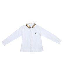 Miyo Full Sleeves Shirt Style Top - White