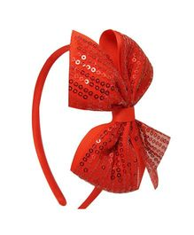 Angel Closet Sequinned Hair Band With Bow - Red