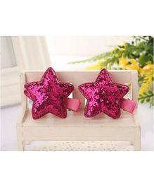 Angel Closet Glitter Star Clips - Pink