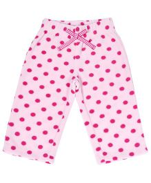 CrayonFlakes Polka Dots Polar Fleece Pyjama - Pink