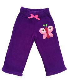 CrayonFlakes Butterfly Patch Rabbit Fur Pyjama - Purple
