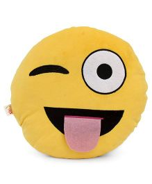 Dimpy Stuff Emoji Cushion Eyes Print - Yellow