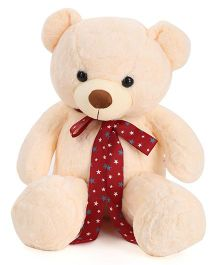 Dimpy Stuff Teddy Bear With Ribbon Bow Cream - 70 cm