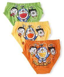 Doraemon Briefs Pack Of 3 - Rust Yellow Green