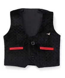 Robo Fry Sleeveless Jacket- Black