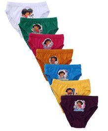 Dora Printed Panties Pack of 6 + 1 Free - Multicolor