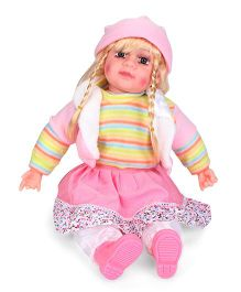 Smiles Creation Doll In Jacket Pink And Green - 54 cm