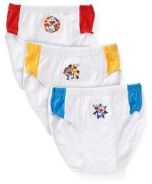 Doraemon Printed Briefs Set Of 3 - Yellow Red Blue