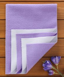 Quick Dry Double Bed Protector - Purple