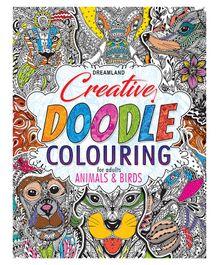 Creative Doodle Colouring Animals & Birds - English