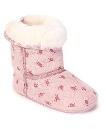 Fox Baby Boot Style Booties - Pink
