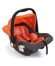 Sunbaby Canopied Carry Cot Cum Car Seat - Orange Grey