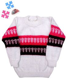 GoCuddle By Jasleen Sweater For Boys - Pink & Maroon