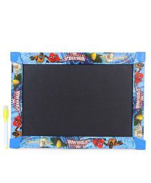 Marvel Spiderman 3 In 1 Write Wipe And Play Board - Blue