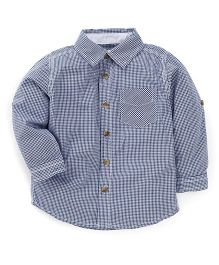 Fox Baby Full Sleeves Check Shirt - Navy