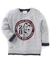 Fox Baby Full Sleeves Sweatshirt With 28 Print - Grey