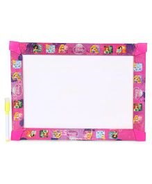 Disney Princess 3 In 1 Write Wipe And Play Board - Pink