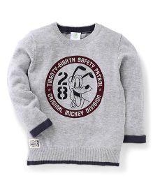 Fox Baby Full Sleeves Sweatshirt Pluto Design - Grey