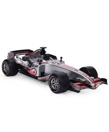 Sunny F1 Racing Friction Car With Light - Silver