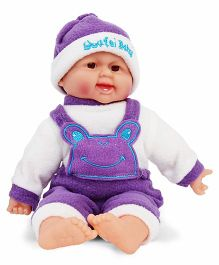 Smiles Creation Laughing Doll Purple - 35 cm