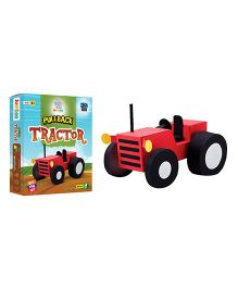 Jumboo 3D DIY Art And Craft Set Pull Back Tractor Toy - Multi Color