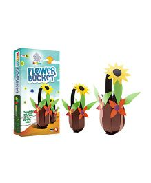 Jumboo 3D DIY Art And Craft Set Flower Bucket - Multi Color