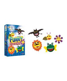 Jumboo 3D DIY Art And Craft Set Funny Characters - Multi Color