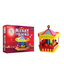 Jumboo 3D DIY Art and Craft Set For Kids-Merry Go Round