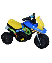 Marktech Battery Operated B Wild Mini Turbo 318 Bike Blue Yellow - JT318 BY