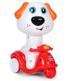 Smiles Creation Toy Puppy On Scooter (Colours May Vary)