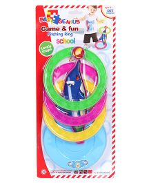 Smiles Creation Game And Fun Pitching Ring Fish Toy - Multicolour