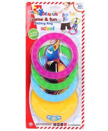 Smiles Creation Game And Fun Pitching Ring Toy Dolphin - Multicolor