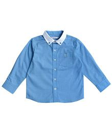 Campana Full Sleeves Plain Shirt - Blue