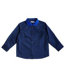 Campana Full Sleeves Printed Shirt - Blue