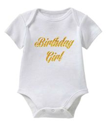 Chota Packet Short Sleeves Onesie Birthday Print - White