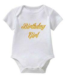 Chota Packet Short Sleeves Onesie Birthday Print - White