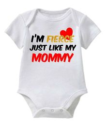 Chota Packet Short Sleeves Onesie I'm Fierce Print - White