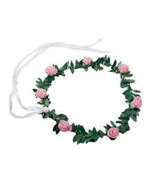 Partymanao Floral Tiara Rose Pink - 16 cm