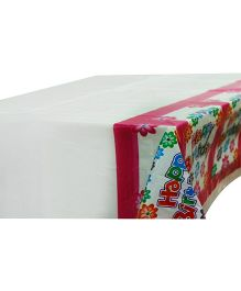 Partymanao Happy Birthday Floral Table Cover - Pink