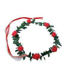 Partymanao Floral Tiara Rose Red - 16 cm