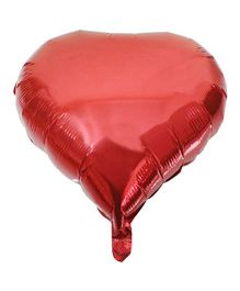 Partymanao Heart Shaped Foil Balloon Red - 18 cm