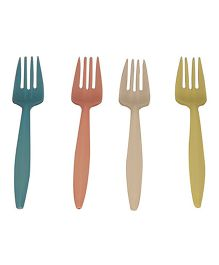 Partymanao Plastic Fork Pack Of 24 - Multi Color
