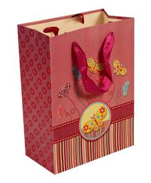Partymanao Paper Bag Butterfly Print - Pink