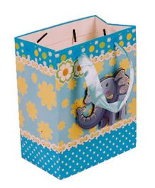 Partymanao Paper Bag Elephant Mounted - Blue