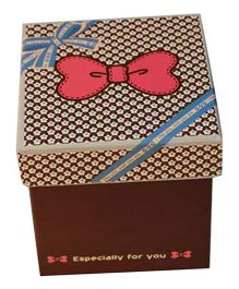 Partymanao Paper Box Bow On Top - Brown