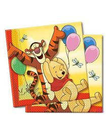 Partymanao Winnie The Pooh Paper Napkins - Yellow