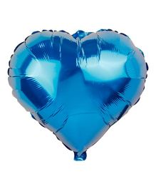 Partymanao Heart Shaped Foil Balloon Blue - 18 cm