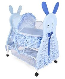 Baby Cradle Heart Print - Blue